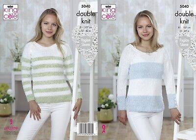 KINGCOLE 5040 Ladies DK KNITTING PATTERNS sizes32-42in - Not the finished Items