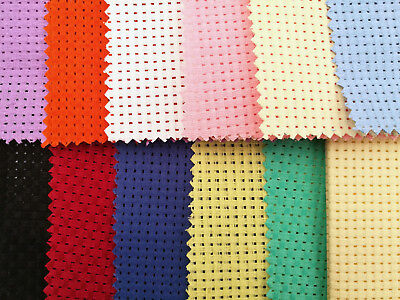 Binca / Aida 6 Count 12 Colours Various Sizes Cotton **10% Off 2+**