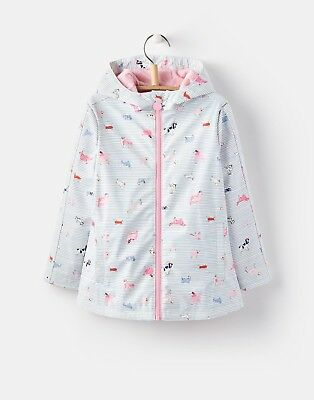 NEW! Joules Girls Rain Dance Rubber Coat - Sunday Best Dogs Sizes 4 - 8 Years