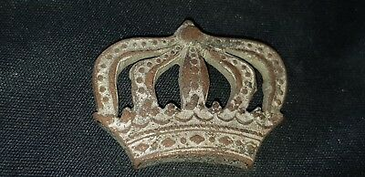 Exquisite Post Medieval Silvered bronze crown mount please read Description L89o