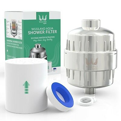 Premium Shower Filter 10-stage By Wuuland Universal Head Water Purifier For Hair
