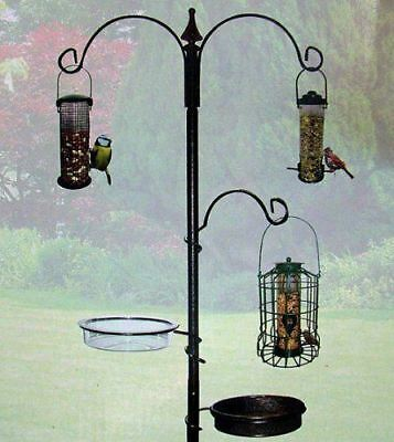 Wild Bird Feeding Station Tray  Water Dish Bird Care Outdoor Garden Decor New