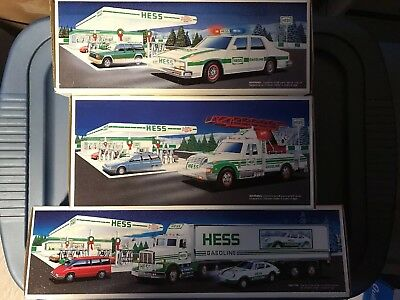 Lot of 3 Hess Toy Trucks 1992 / 1993 / 1994 New in Boxes