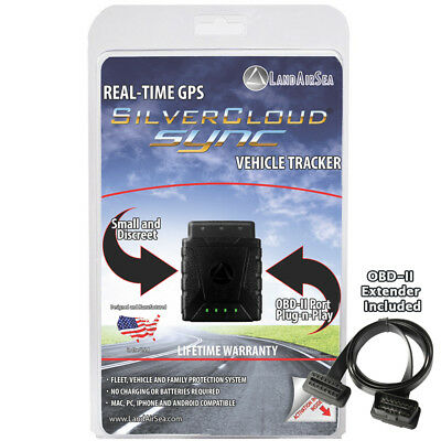 SilverCloud SYNC Real Time GPS Vehicle Tracker with OBD Adapter Cable