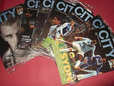2013/14 Man City Home Programmes Choose From (Manchester City)