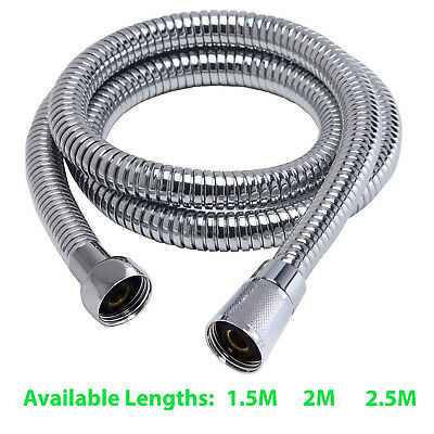Stainless Steel Chrome Finished Flexible Bathroom Shower Head Hose Pipe Washer