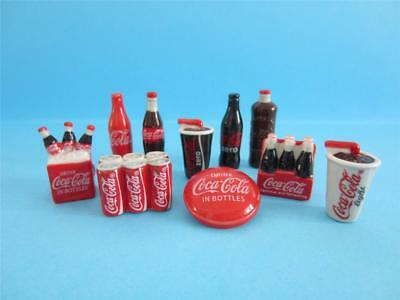 Retired Rare Incredible Miniature Porcelain, Want A Coca Cola! Collection Set