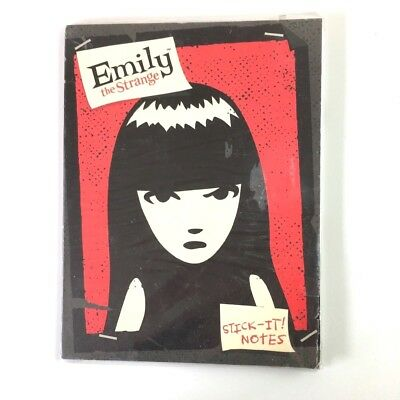Emily The Strange Stick It Notes Set Goth Cats Mystery Nee Chee Sabbath Miles