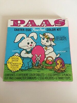 Vintage 1983 PAAS Easter Egg Colouring Kit Dip Dye Decorating Tablets New