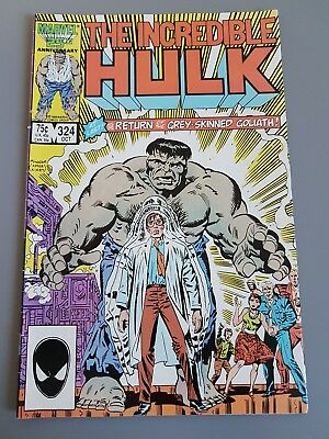 Marvel Comics Incredible Hulk #324 October 1986