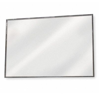 "ADA Compliant Flat Mirror 30"" x 16"" SS Frame VISION METALIZERS GADM3016"
