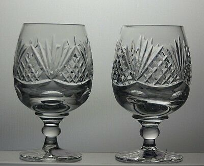 "Tutbury Crystal ""belmont""cut Full Lead Hand Cut Sherry Glasses Set Of 2 With Box"