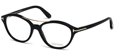 Tom Ford Optical Black Vintage Eyeglasses Frames FT5412 001 - Made In Italy