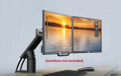 Dell MDA17 Dual Monitor Adjustable Arm, Desk Mountable, Open