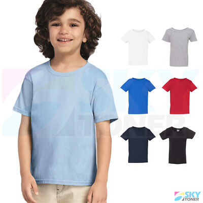 New! Gildan Heavy Cotton Toddler Kids Plain Short Sleeve T-Shirt 5100P