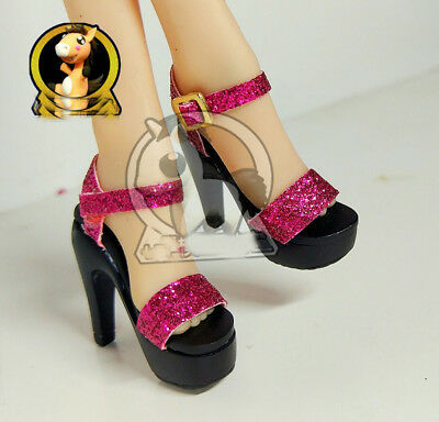 """1:6th Scale Red Diamond sandals with high heels FOR 12"""" Phicen Women Body Doll"""
