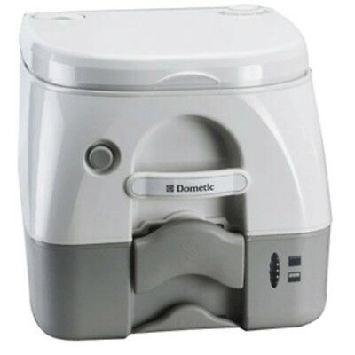 Dometic - SeaLand 974 Portable Toilet 2.6 Gallon - Grey w/Brackets