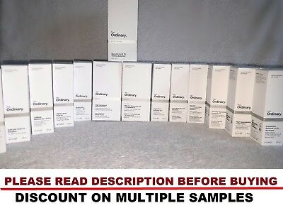 THE ORDINARY SAMPLES.. 5ml POT/JAR 💚❤️Orders Over £5 get Free Blackhead Remover
