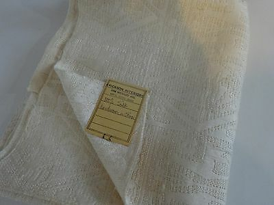 Antique HAND LOOMED 100% Silk IVORY Jacquard Textured FABRIC Pc UPHOLSTERY 42x31