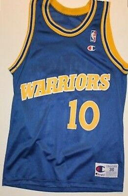 be855f694 Vintage Tim Hardaway Golden State Warriors Jersey Champion Mens Size 36  Small