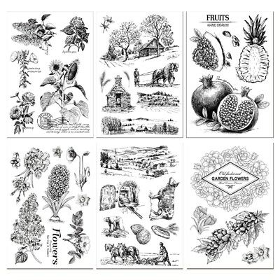 Silicone Clear Rubber Stamps for DIY Scrapbook Decor Card Making Crafts Supplies