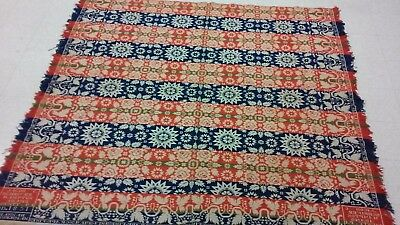 1851 Jacob C Schriver Signed Coverlet Adams County Pa Museum Quality