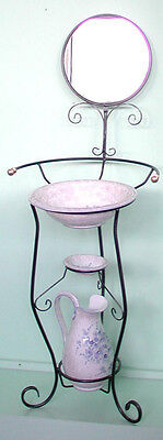 ONLY BASE Set WASHSTAND Wrought iron KNOBS BRASS WITH MIRROR