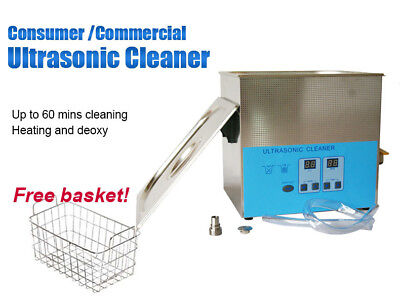 Stainless Steel 2L Liter Industry Ultrasonic Cleaner Cleaning Machine w/Timer US