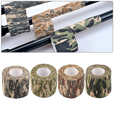 4 Roll Army Camo Wrap Rifle Gun Shooting Hunting Camouflage Stealth Webbing Tape