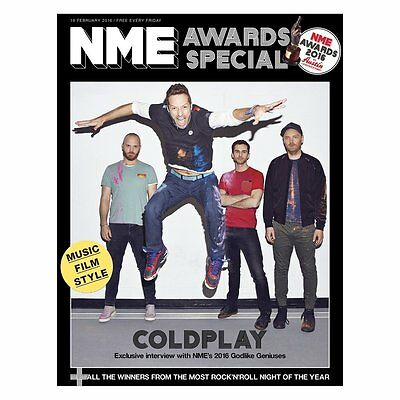 NEW MUSICAL EXPRESS NME 19 FEBRUARY 2016 COLDPLAY Awards Special Cover n.m.e.