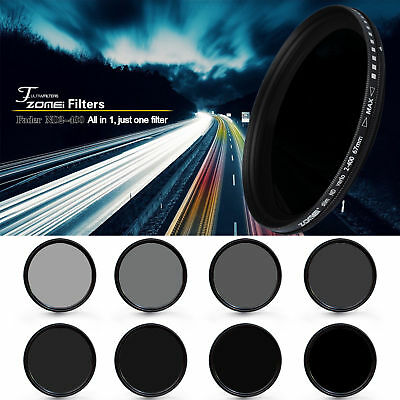 Zomei 77mm Slim Fader ND Filter Adjustable Variable Neutral Density ND2 to ND400