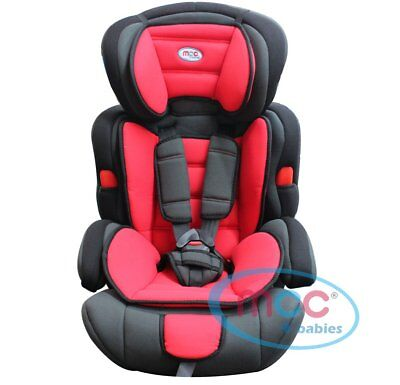 Mcc 3in1 Convertible Baby Child Car Safety Booster Seat Group 1/2/3 9-36 kg RED*