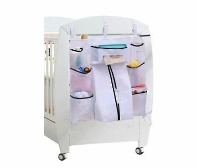 Baby Nursery Organizer Bag Bed Hanging Storage Cloths Diaper Hangers Clothes New