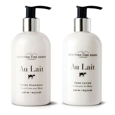 Scottish Fine Soaps Au Lait Hand Wash & Hand Lotion Care Set