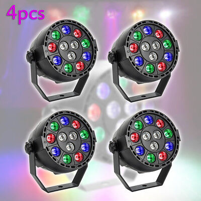 4x 12 LED UV Stage Light Black Light Wall Washer Lamp DMX Bar DJ Disco Party AU
