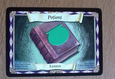 Harry Potter Trading Card Game 2001 Lesson Card Potions No 115 Of 116