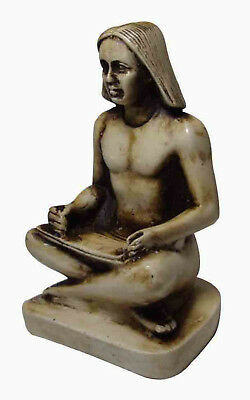 "Egyptian Pharaoh Royal Scribe Figurine Statue 4"" Ancient Sculpture Egypt  201"