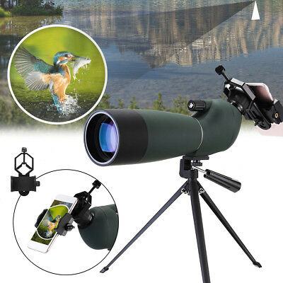 25-75x70 Waterproof Zoom Monocular BAK4 Spotting Scope FMC + Tripod Phone Holder