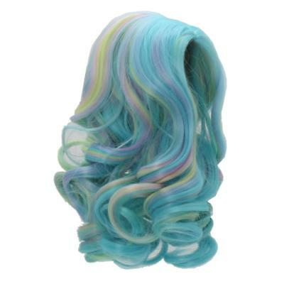 "Gradient Blue Wavy Curly Hair Wig Making for 18"" American Girl Dolls Repair"