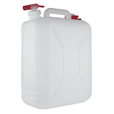 25 Litre Jerry Can With Tap And Carry Handle – White Water Oil Diesel Petrol New