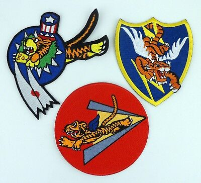 Wwii Chinese Air Force Flying Tigers Patch Avg Patch Three Styles Full Size-364