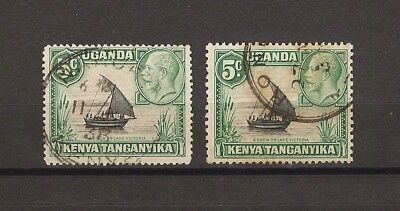 "Kenya Uganda Tanganyika 1935-7 SG 111a/ba  ""Rope Joined to Sail"" USED Cat £958"