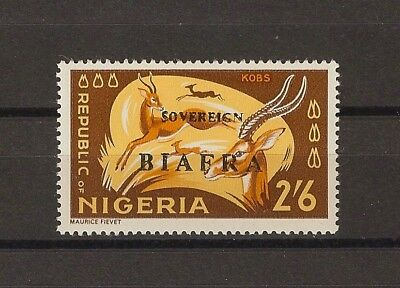 """NIGERIA/BIAFRA 1968 . SG 13a """"Red Overprint Omitted"""" MNH Cat £300"""