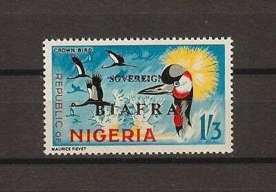 """NIGERIA/BIAFRA 1968 . SG 12b """"Red Overprint Omitted"""" MNH Cat £375"""