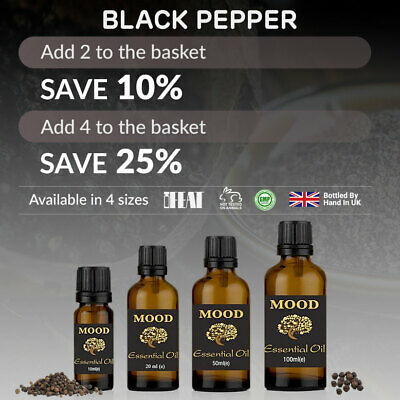 Essential Oil Pure Aromatherapy Oils Natural Black Pepper Fragrances Organic