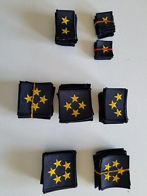 110  police service starsDark navy and gold