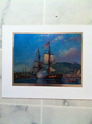 William Van Powell's historical etchings of US Navy Ships -- Revolutionary War