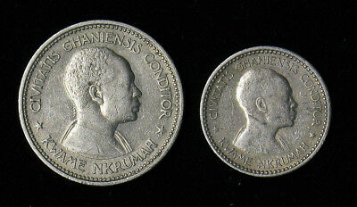 Lot of 2 Ghana 1958 One and Two Shillings