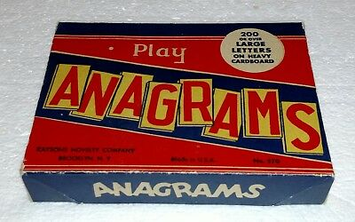 Vintage Anagrams Brand New In Box