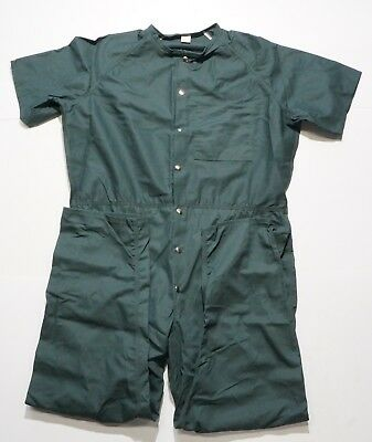 New Mens Short Sleeve Coverall Overall Boilersuit Mechanic Protective Work Wear